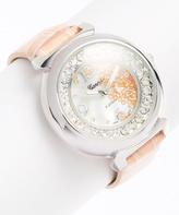 Geneva Platinum Pink Rhinestone Watch