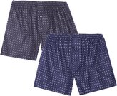 Noble Mount Men's 100% Cotton Flannel Boxers 2-Pack