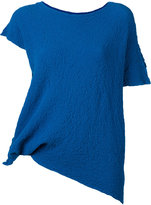 Issey Miyake shortsleeved top - women - Cotton/Polyurethane - One Size