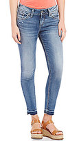 Silver Jeans Co. Elyse Release Hem Woven Stretch Ankle Skinny Jeans