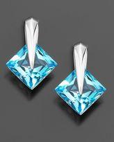 14k White Gold Blue Topaz Earrings (6-1/8 ct. t.w.)