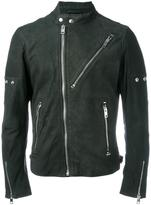 Diesel zipped biker jacket - men - Sheep Skin/Shearling/Polyester - S