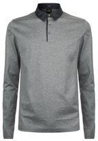 BOSS Mercerised Cotton Long Sleeve Polo Shirt