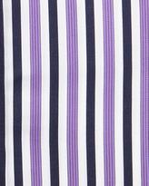 English Laundry Striped Spread-Collar Dress Shirt, Purple