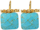 Catherine Canino Turquoise Twisted Drop Earrings