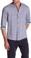 Heritage Horizontal Stripe Slim Fit Linen Sport Shirt