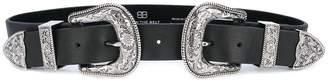 B-Low the Belt double buckles belt