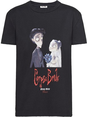 Miu Miu x Disney Corpse Bride print T-shirt