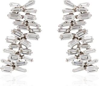 Suzanne Kalan 18kt white gold Fireworks diamond earrings