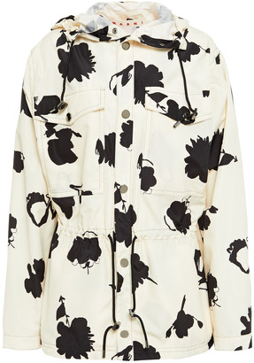 Marni Printed Shell Hooded Jacket