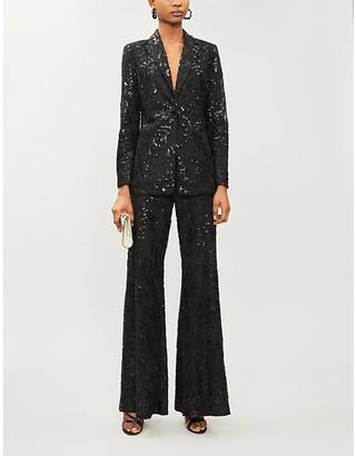 Alexis Firdas sequin-embellished mesh blazer