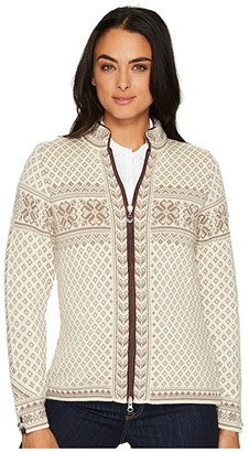 Dale of Norway Sunniva Jacket (D-Off-White/Warm Taupe) Women's Coat