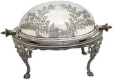 One Kings Lane Vintage Mappin & Webb Silver-Plate Butter Dish - Rose Victoria