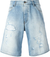 Armani Jeans distressed long denim shorts - men - Cotton/Spandex/Elastane - 44