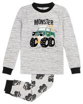 Petit Lem Little Boys Two-Piece Monster Truck Pajama Set