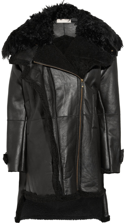 Preen Line Frazer oversized sheepskin coat