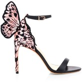 Sophia Webster Chiara Butterfly Embroidered Silk & Leather Sandals