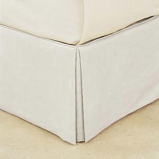 OKA Bed Valance 100% Cotton, King Size - White