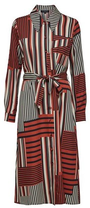 Selected Slfmyla Florenta Striped Shirtdress - Red / DK34-UK8