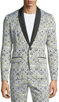Trina Turk Gregory Graphic-Print Tux Jacket