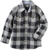 Osh Kosh 2-Pocket Plaid Button-Front Shirt