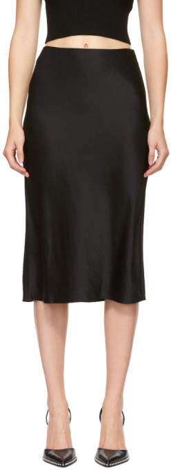 Alexander Wang Black Wash and Go Skirt