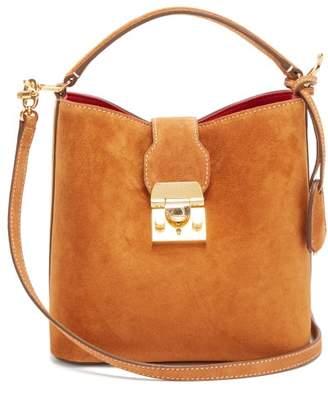 Mark Cross Murphy Suede Bucket Bag - Womens - Brown