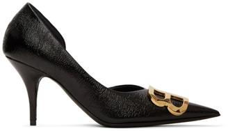 Balenciaga Black BB DOrsay Heels
