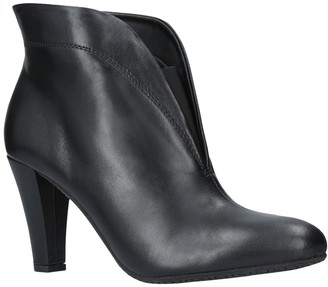 Carvela Comfort Rida Cut Out Ankle Boots, Black Leather