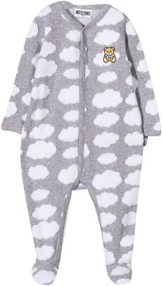 Moschino Newborn Gray Onesie