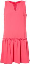 Trina Turk gathered detail shift dress - women - Polyester - 8