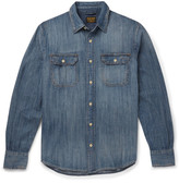 Jean Shop Distressed Denim Shirt