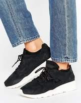 Le Coq Sportif Black Nubuck Flow Sneakers