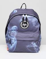 Hype Smokey Print Backpack In Blue