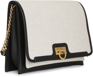Salvatore Ferragamo Trifolio crossbody canvas bag
