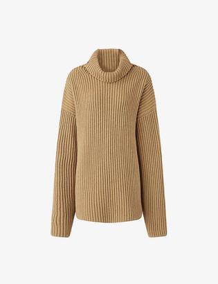 Joseph High Neck Cardigan Stitch Knit merino-wool jumper