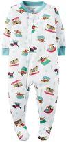 Carter's Baby Boy Dog Sled Footed Pajamas