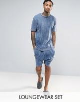 Asos Tshirt & Drop Crotch Short Set In Rib