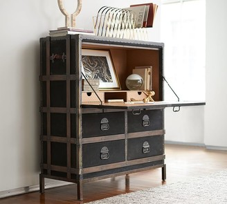"Pottery Barn Ludlow 44.5"" Trunk Secretary Desk with Drawers"