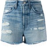 3x1 Ripped Detail Frayed Edge Shorts