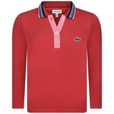 Lacoste LacosteGirls Red Jersey Polo Shirt