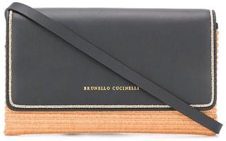 Brunello Cucinelli Raffia Cross Body Bag