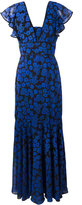 Milly Deni maxi dress - women - Silk/Nylon/Polyester/Spandex/Elastane - 8