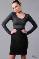Wooly Jersey Long Sleeve Raglan Dress