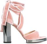 Valentino Garavani high heel velvet sandals
