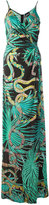 Just Cavalli snakeprint maxi dress - women - Viscose - 42