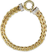 Macy's 14k Gold Bracelet, Diamond Spiga (1/8 ct. t.w.)
