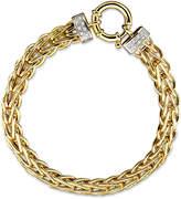 Macy's 14k Gold Bracelet, Diamond Spiga (1/8 ct. t.w.)