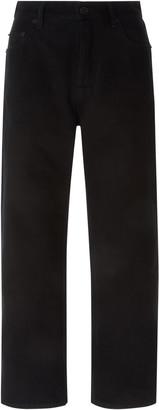 Balenciaga Cropped Rigid High-Rise Straight-Leg Jean