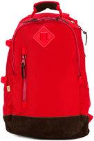 Visvim contrast panel backpack - men - Suede/Polyamide - One Size